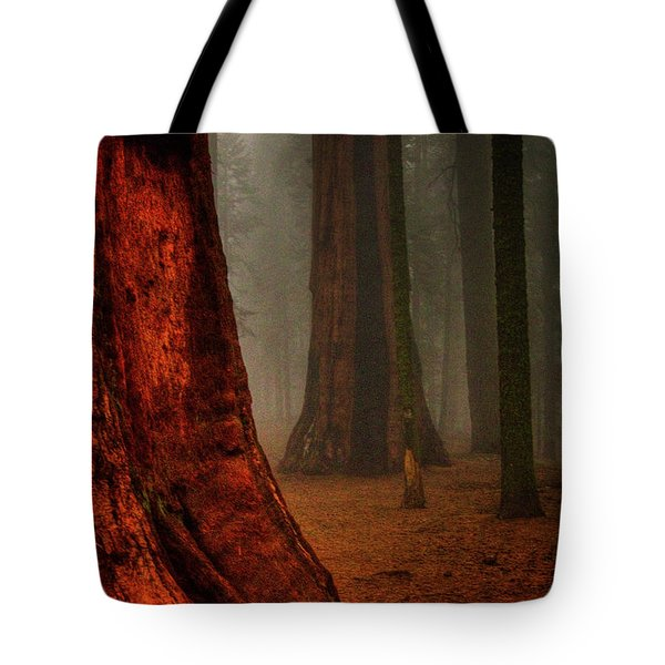 Sequoias In The Clouds Tote Bag