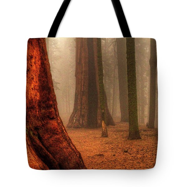 Sequoias Touching The Clouds Tote Bag