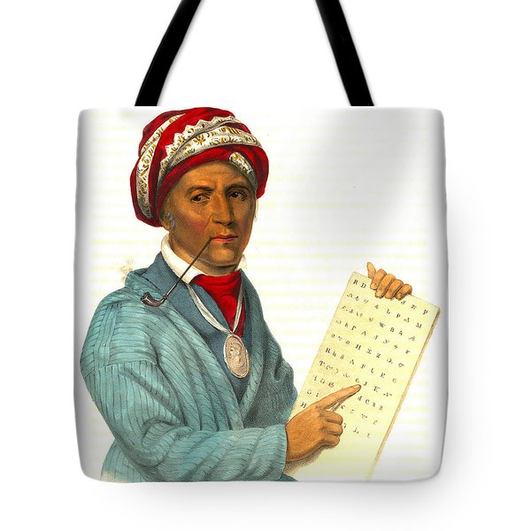 Tote Bag featuring the photograph Sequoyah 1838 by Padre Art