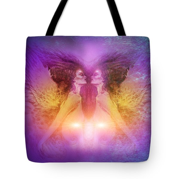 Tote Bag featuring the painting Seraphim by Ragen Mendenhall