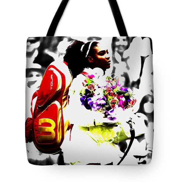 Serena Williams 2f Tote Bag by Brian Reaves