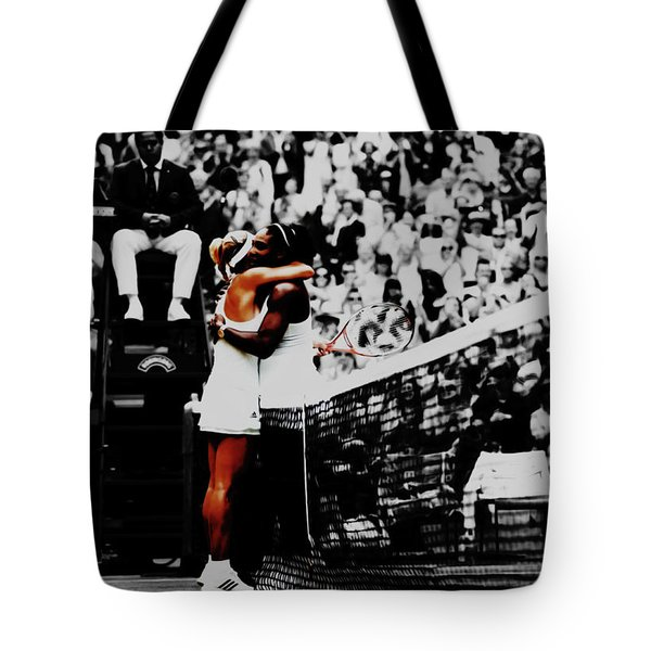 Serena Williams And Angelique Kerber Tote Bag by Brian Reaves