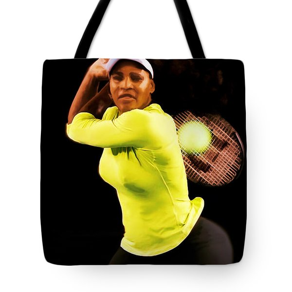 Serena Williams Bamm Tote Bag by Brian Reaves