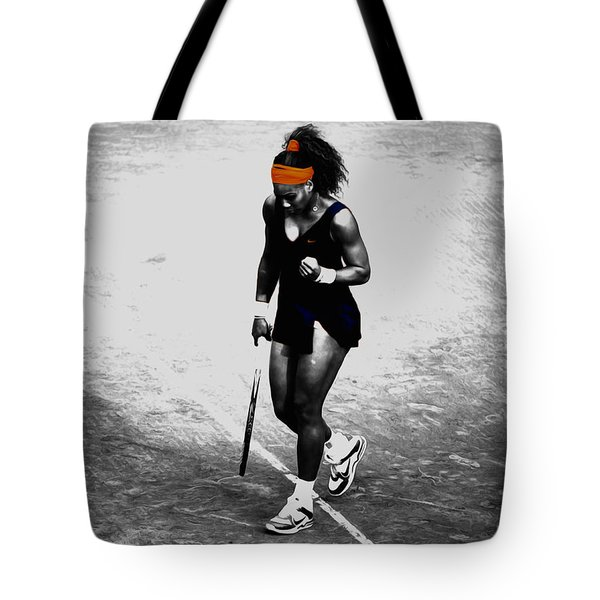 Serena Williams Match Point 3a Tote Bag by Brian Reaves