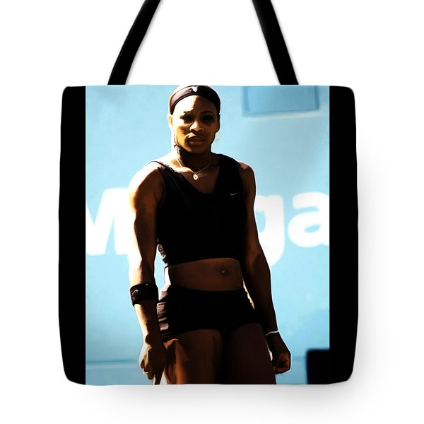 Serena Williams Match Point IIi Tote Bag by Brian Reaves