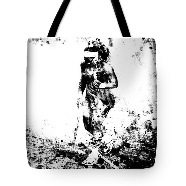 Serena Williams Dont Quit Tote Bag by Brian Reaves