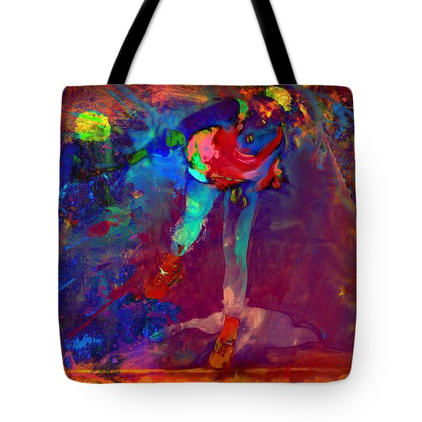 Serena Williams Return Explosion Tote Bag by Brian Reaves