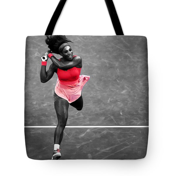 Serena Williams Strong Return Tote Bag by Brian Reaves