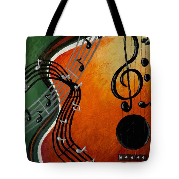 Tote Bag featuring the painting Serenade by Teresa Wing