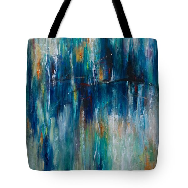 Tote Bag featuring the painting Serendipity by Linda Olsen