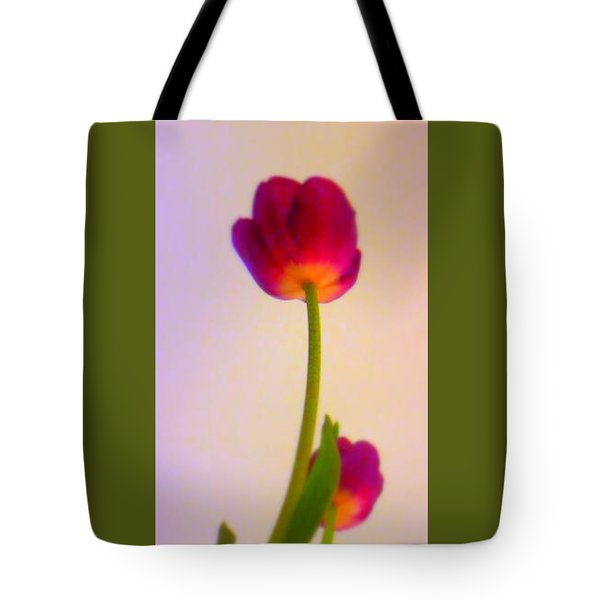 Serendipity Tulip Tote Bag by Marlene Rose Besso