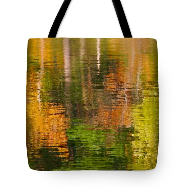 Serene Autumn Reflection Tote Bag