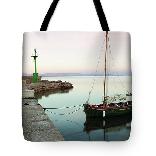 Tote Bag featuring the photograph Serene Awakening by Davor Zerjav
