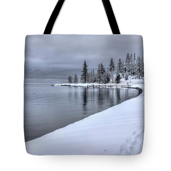 Serene Beauty Of Lake Tahoe Winter Tote Bag