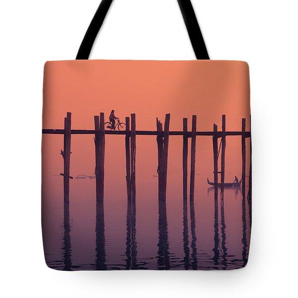 Serene Dawn Tote Bag by Marji Lang