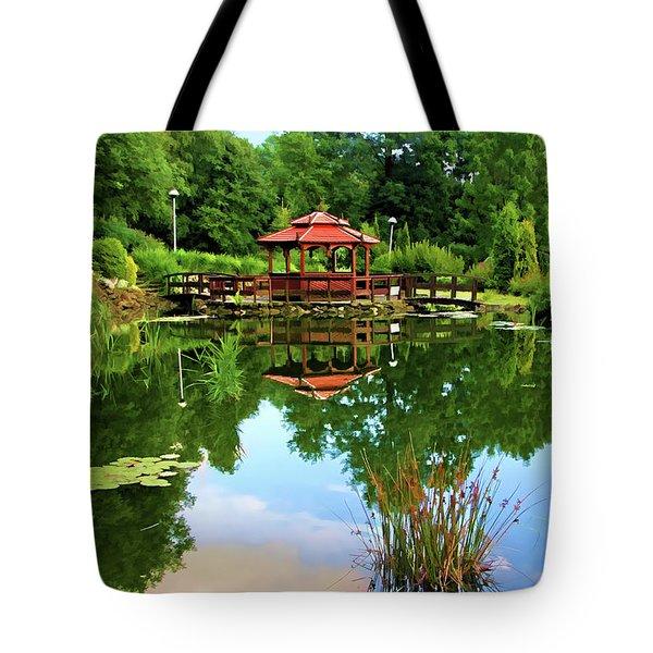 Serene Garden Tote Bag