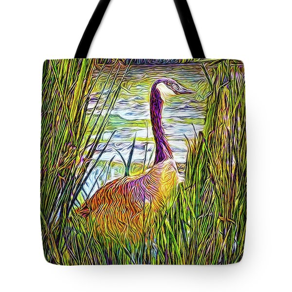 Serene Goose Dreams Tote Bag by Joel Bruce Wallach