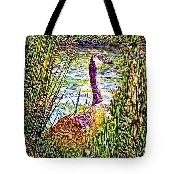 Serene Goose Dreams Tote Bag