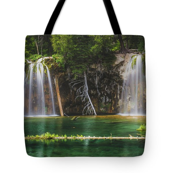 Serene Hanging Lake Waterfalls Tote Bag