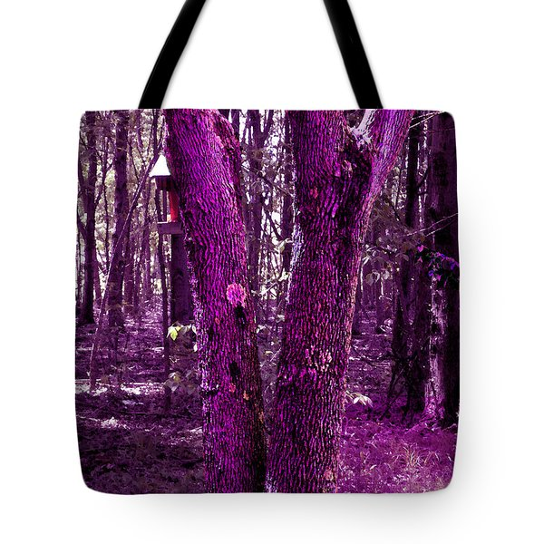 Tote Bag featuring the photograph Serene In Purple by Michelle Audas