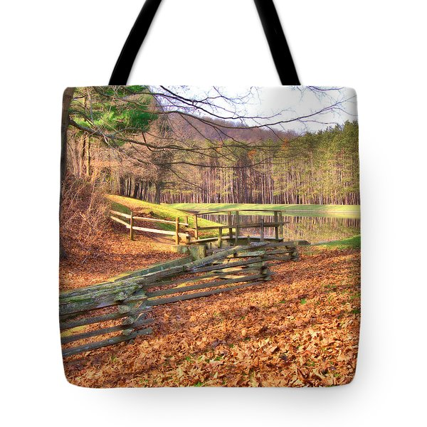 Tote Bag featuring the photograph Serene Lake by Gordon Elwell