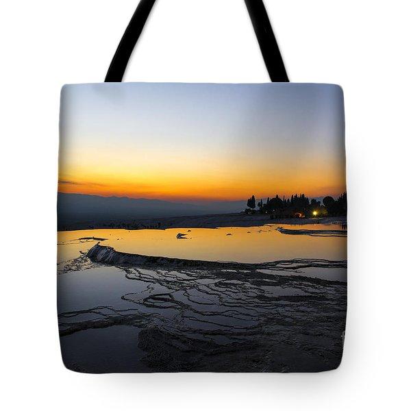 Serene Night In Pammukale Tote Bag by Yuri Santin