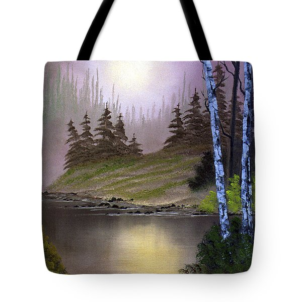 Serene Nightscape Tote Bag
