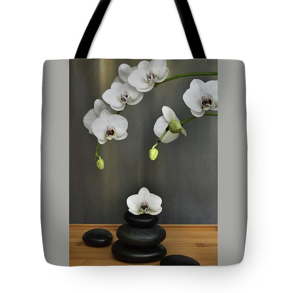 Tote Bag featuring the photograph Serene Orchid by Terence Davis