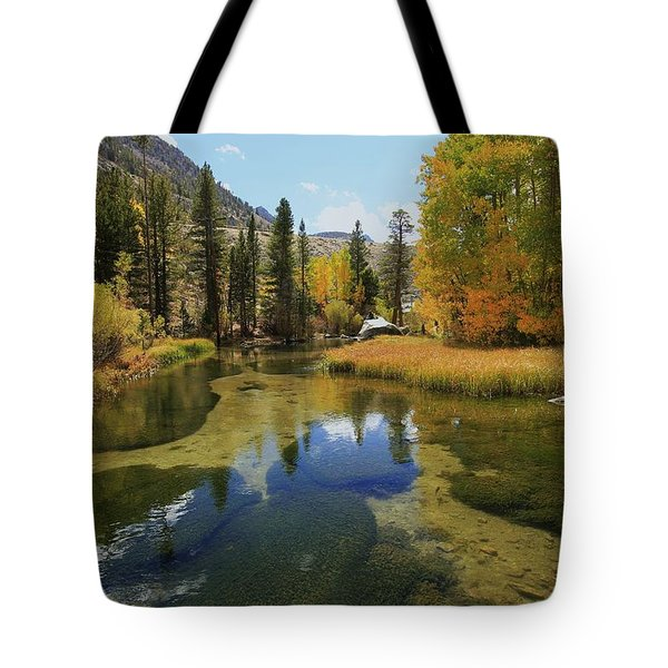 Serene Stream Tote Bag by Sean Sarsfield