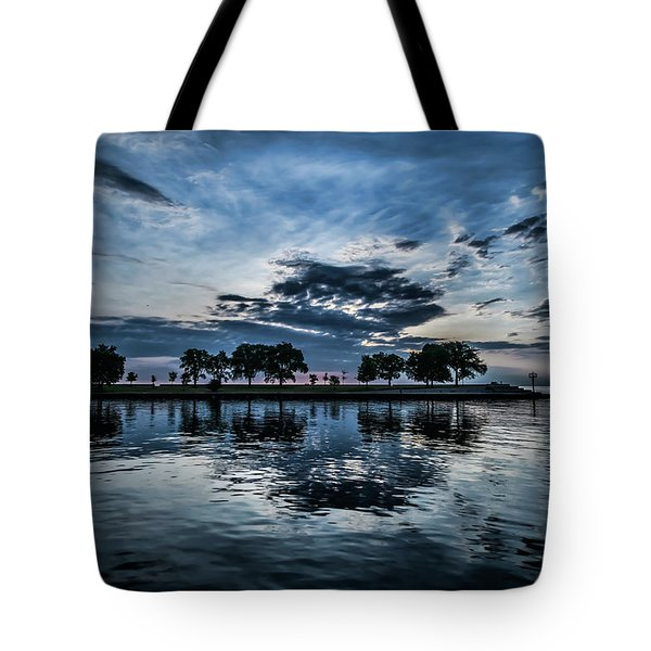 Serene Summer Water And Clouds Tote Bag