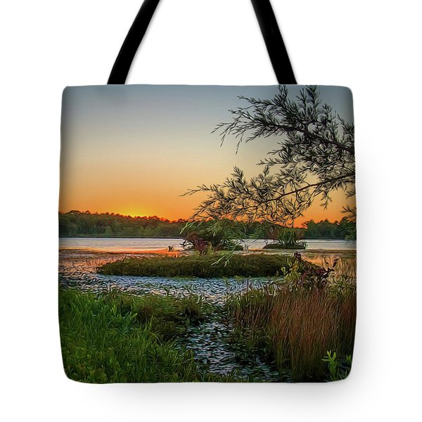 Serene Sunset Tote Bag