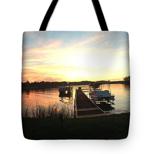 Tote Bag featuring the photograph Serene Sunset by Rebecca Wood