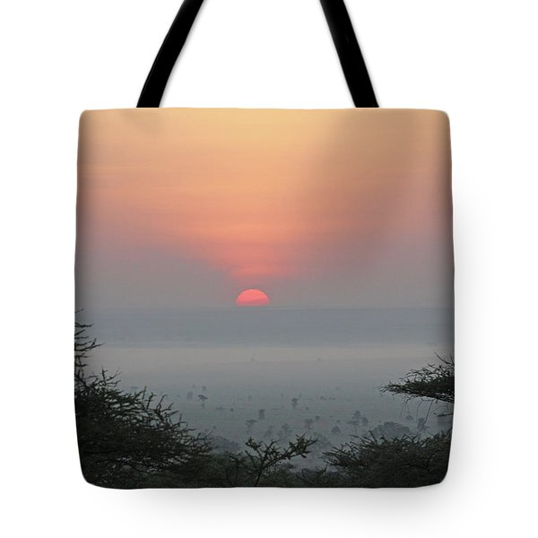 Serengeti Sunrise Tote Bag