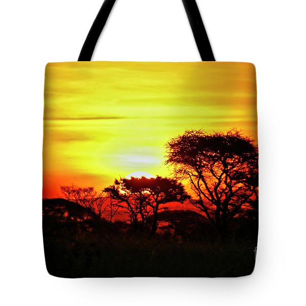 Serengeti Sunset Tote Bag