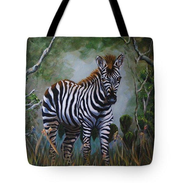 Serengeti Zebra Tote Bag