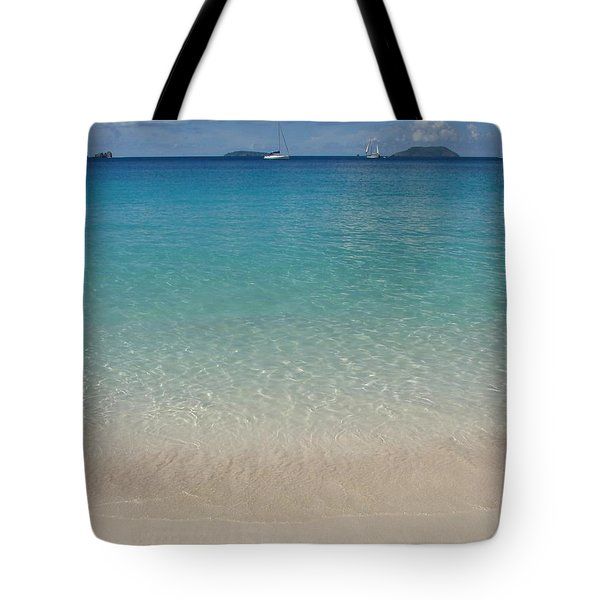 Serenity At Trunk Bay  Tote Bag by Margaret Bobb