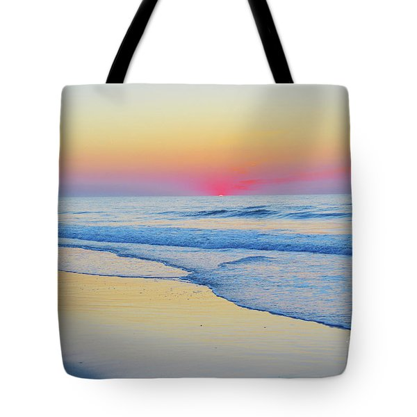 Serenity Beach Sunrise Tote Bag