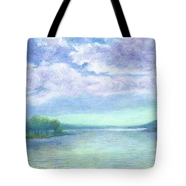 Serenity Blue Lake Tote Bag