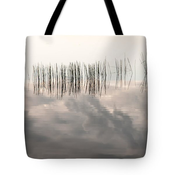 Serenity Dwells Here Where Tranquil Water Flow Cloaked  In Hues Of Love Tote Bag by Jenny Rainbow