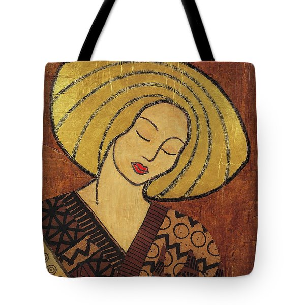 Tote Bag featuring the mixed media Serenity by Gloria Rothrock
