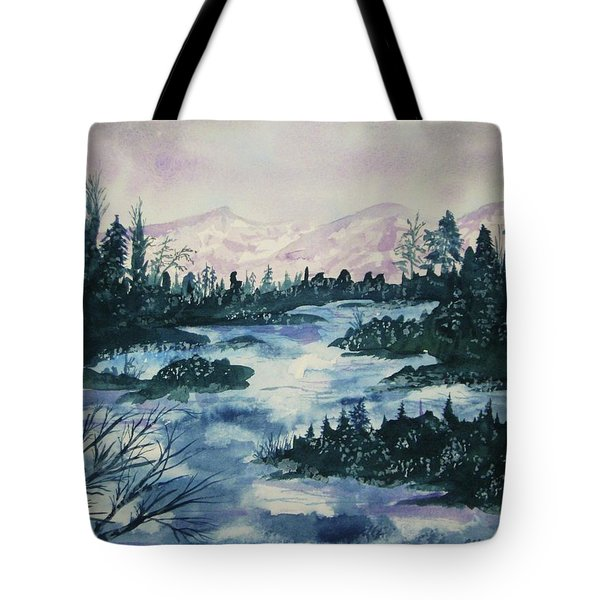 Tote Bag featuring the painting Serenity IIi by Ellen Levinson