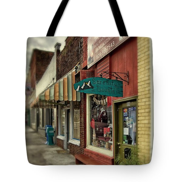 Serenity Mountain Tote Bag by Greg Mimbs