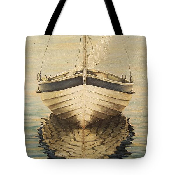 Tote Bag featuring the painting Serenity by Natalia Tejera