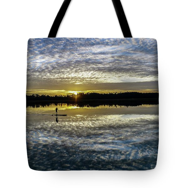Serenity On A Paddleboard Tote Bag by Jerry Gammon