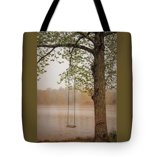 Serenity On The Lake Tote Bag