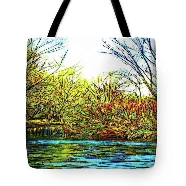Serenity On The River Tote Bag