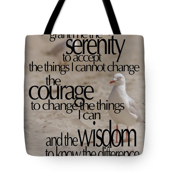 Serenity Prayer 01 Tote Bag