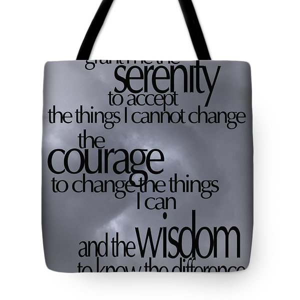 Serenity Prayer 05 Tote Bag