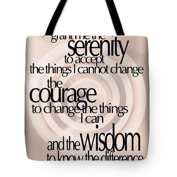 Serenity Prayer 06 Tote Bag