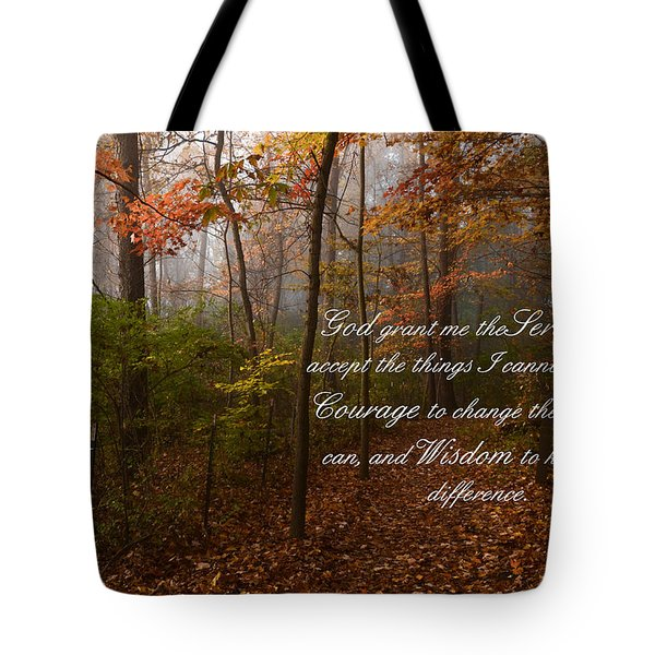 Serenity Prayer Tote Bag by Ann Bridges
